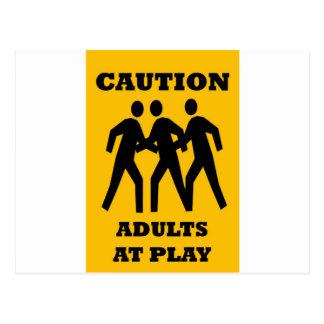 Cartão Postal Adultos do cuidado no jogo