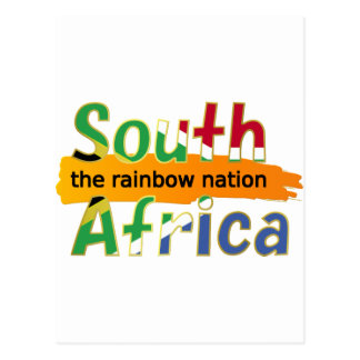 Cartão Postal África do Sul - a nação do arco-íris