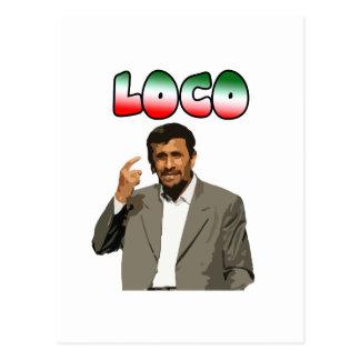 Cartão Postal Ahmadinejad - louco