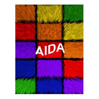 Cartão Postal AIDA (nomes fêmeas)