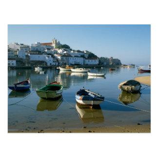 Cartão Postal Aldeia piscatória de Ferragudo, o Algarve,