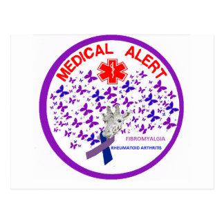 Cartão Postal Alerta médico reumatóide de Arthritus da