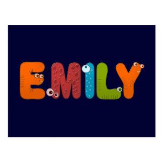 Cartão Postal alfabeto animal Emily