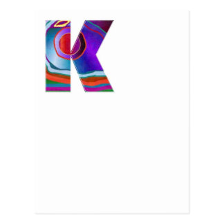 Cartão Postal ALFABETO Kay: Nome da inicial da identidade da