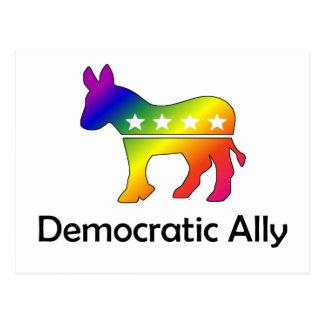 Cartão Postal Aliado Democrática de GLBT (2)