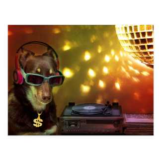 Cartão Postal Aliado do DJ na casa da Dinamarca