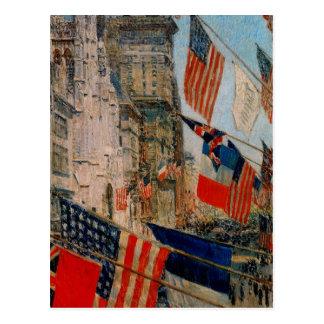 Cartão Postal Aliados dia, em maio de 1917