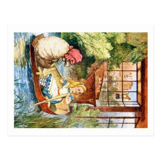 Cartão Postal Alice olhou como a mulher adulta transformada em
