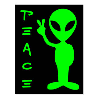 Cartão Postal Alienígena da paz