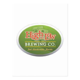 Cartão Postal Alto baixo Brewing Empresa