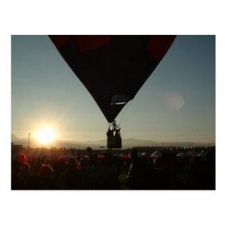 Cartão Postal Amanhecer Ballooning