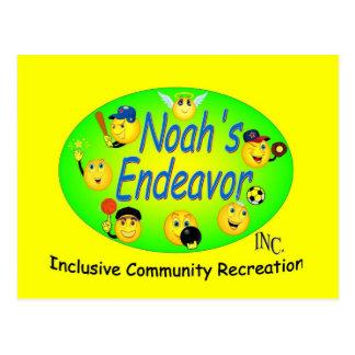 Cartão Postal Amarelo do esforço de Noah