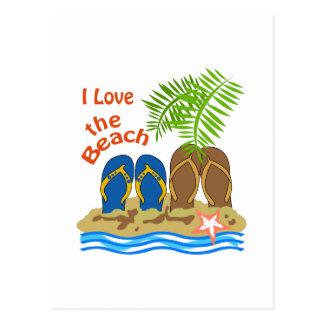 Cartão Postal Ame a praia