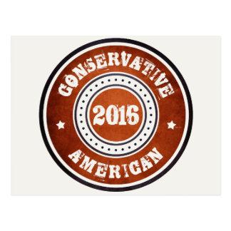 Cartão Postal Americano conservador