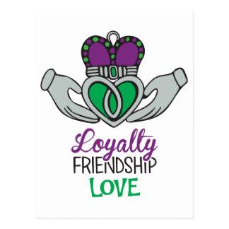 Cartão Postal Amor da amizade da lealdade