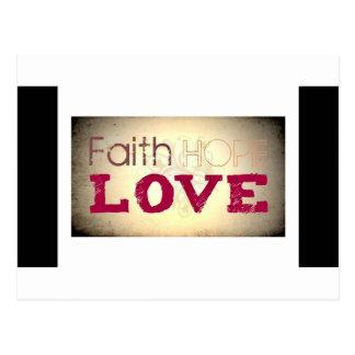 Cartão Postal Amor da esperança da fé