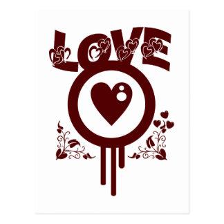 Cartão Postal Amor do coração de sangramento