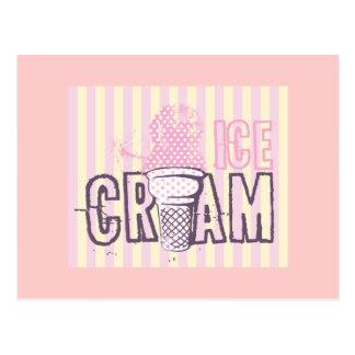 Cartão Postal Amor doce do petisco das sobremesas da comida do