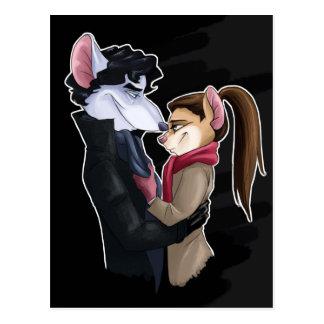Cartão Postal Amor dos ratos