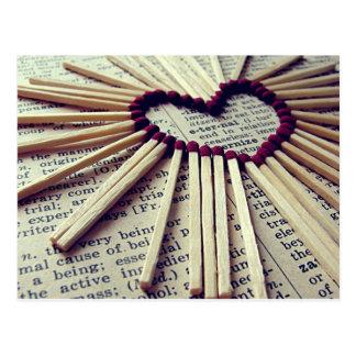 Cartão Postal Amor eterno do coração