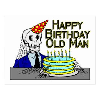 Cartão Postal Ancião da Web de aranha do feliz aniversario