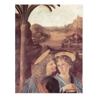 Cartão Postal Andrea del Verrocchio morre Taufe Christi,