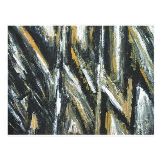 Cartão Postal Ângulos agudos pretos (expressionism abstrato)