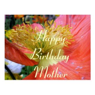 Cartão Postal Aniversário das mães