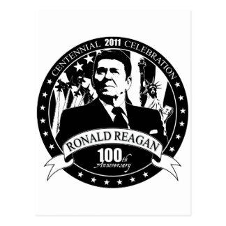 Cartão Postal Aniversário de Reagan o 100th