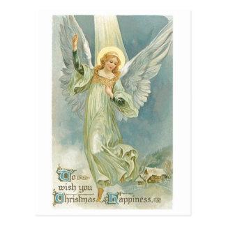 Cartão Postal Anjo antiquado Gloria do Natal