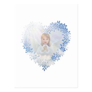 Cartão Postal Anjo-da-guarda em um coração