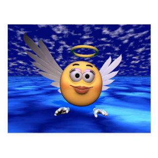 Cartão Postal anjo feliz da cara