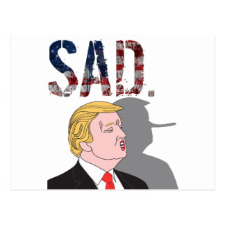 Cartão Postal Anti presidente sarcástico engraçado Donald Trump