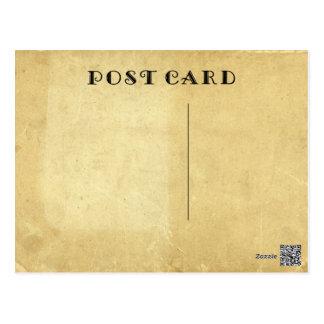 Cartão Postal Antiguidade rústica vazia papel de pergaminho