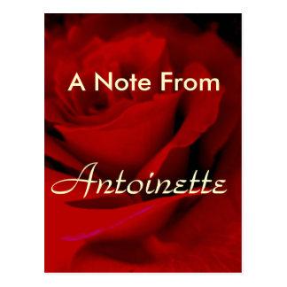 Cartão Postal Antoinette