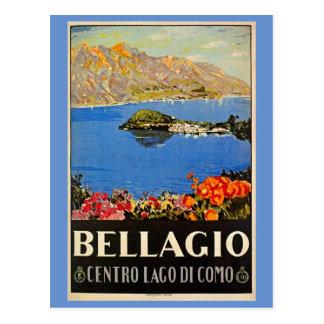 Cartão Postal Anúncio italiano do viagem de Bellagio do 1920 do