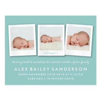 Cartão Postal Anúncio macio do nascimento da cerceta com três