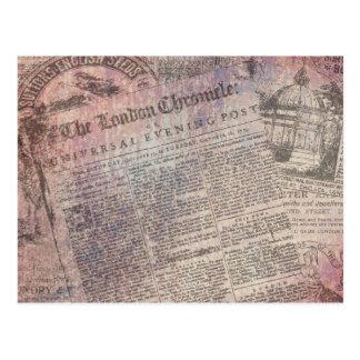 Cartão Postal Anúncios de jornal da crónica de Londres do