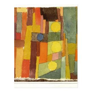 Cartão Postal Ao estilo de Kairouan por Paul Klee