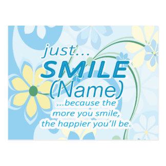 Cartão Postal Apenas o sorriso adiciona um nome