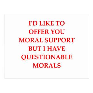 Cartão Postal apoio moral