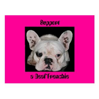 Cartão Postal Apoio, um Frenchie surdo