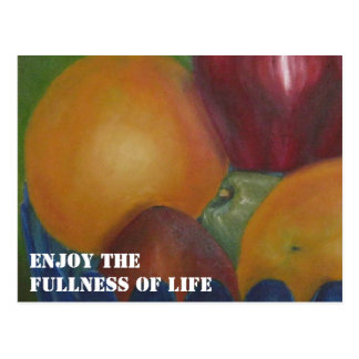 Cartão Postal Aprecie a plenitude da vida