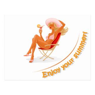 Cartão Postal Aprecie seu verão