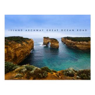 Cartão Postal Arcada na grande estrada do oceano, Austrália da