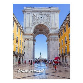 Cartão Postal Arco de Rua Augusta em Lisboa