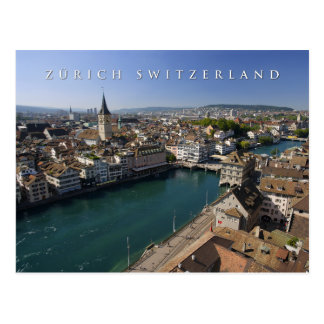 Cartão Postal arquitectura da cidade da suiça de Zurique