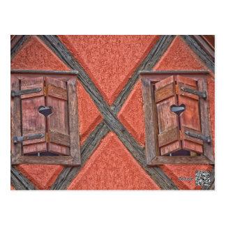 Cartão Postal Arquitetura em Alsácia France