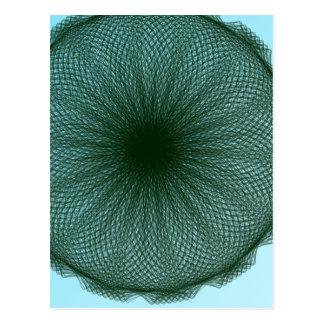 Cartão Postal arte abstracta escura verde do limão
