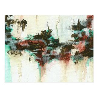 Cartão Postal Arte abstrata da paisagem que pinta a cerceta